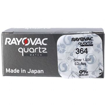 Rayovac 364 SR621SW 1.5V Silver Oxide Watch Battery